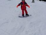 5 metų snieglentininkė Ivona